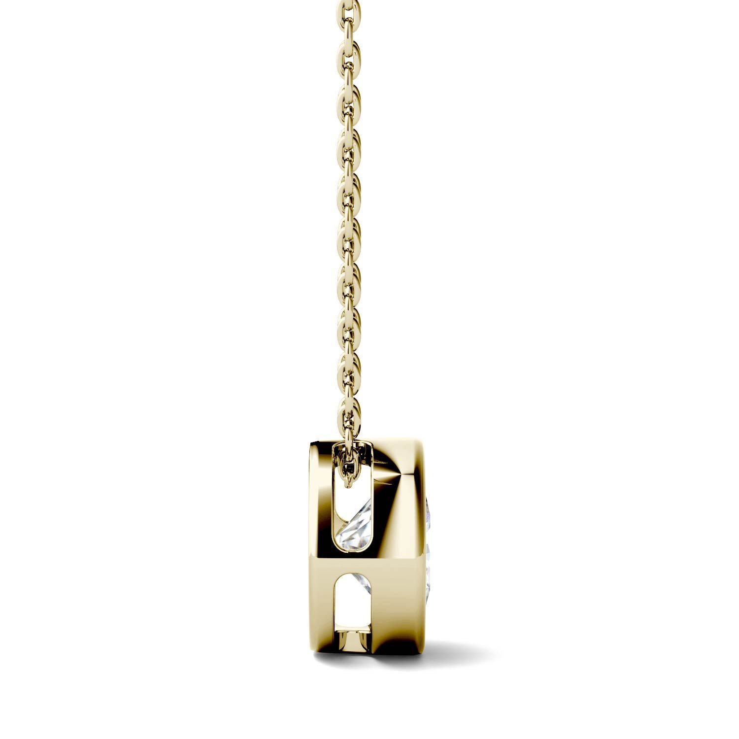 Forever One 14K Yellow Gold Round 8.0mm Moissanite Pendant Necklace, 1.90ct DEW By Charles & Colvard by Charles & Colvard (Image #2)