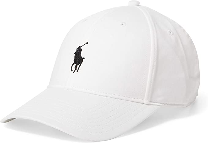 Polo Ralph Lauren Men`s Baseball Cap (White, /Black, One Size ...
