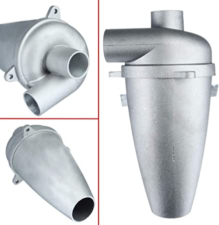 without brand LT-Home, Aluminio 1pc Industrial Turbo-Carga ciclón Separador de Polvo Filtro colector Aspiradora Limpiador de Alta eficiencia conducto colector: Amazon.es: Hogar