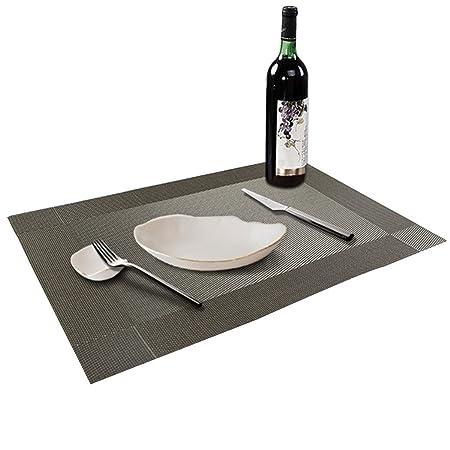 Conjunto de 6 manteles individuales de plástico vinilo para mesa ...
