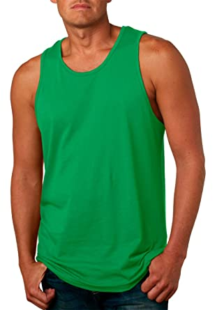 f08977100d8164 Next Level Mens Jersey Tank Top 3633-Kelly Green at Amazon Men s ...