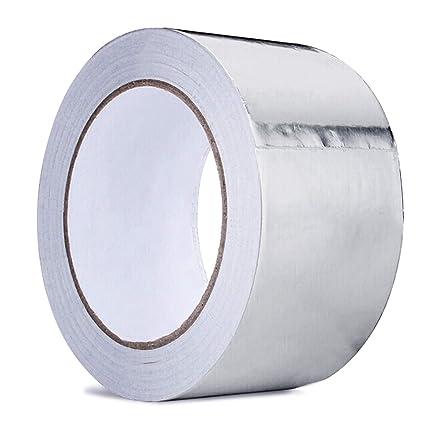 Cinta adhesiva de aluminio para sellado de aluminio cococity, conducto de cinta plateado brillante aislante