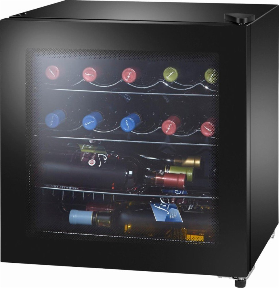Insignia™ - 16-Bottle Wine Cooler with Wine Tote - Black