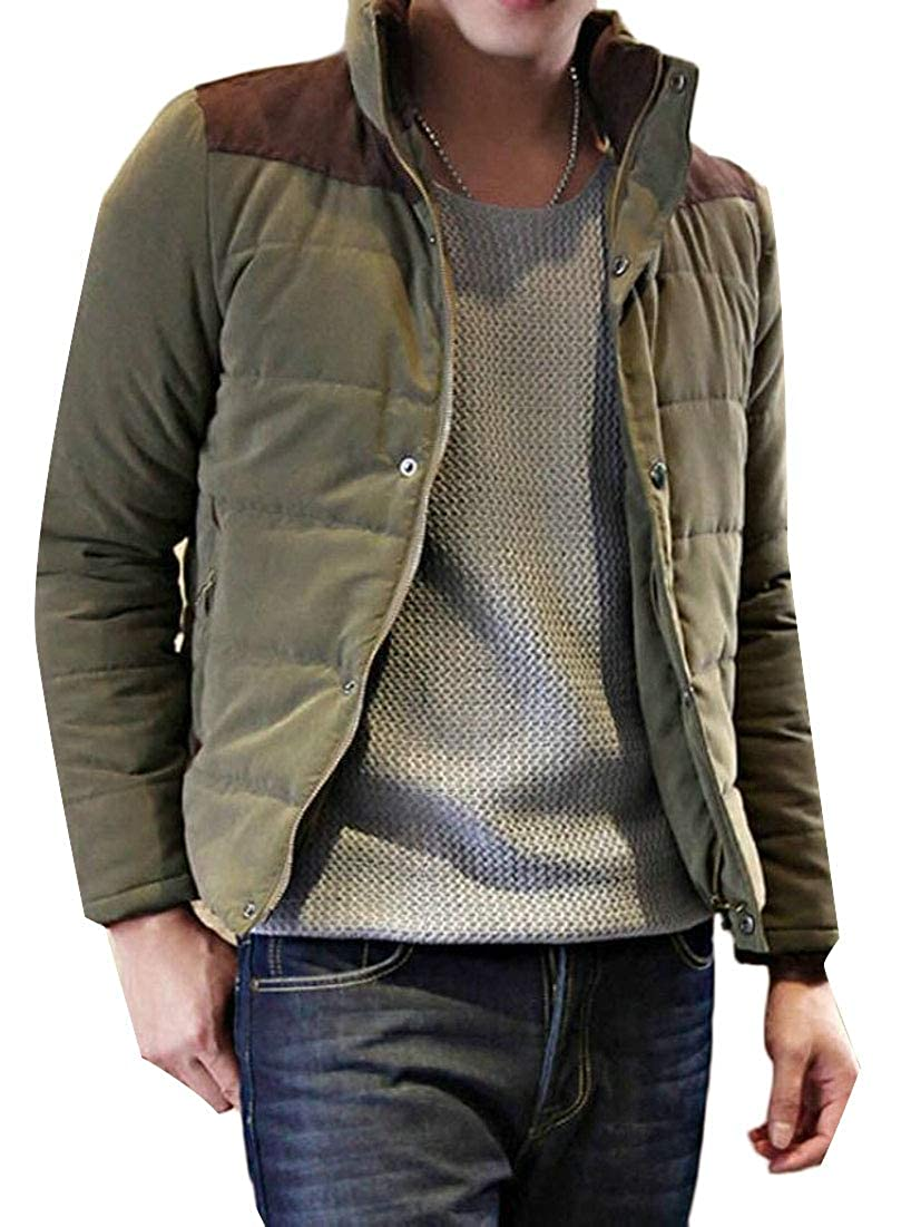 Generic Mens Stand Neck Packable Light Weight Down Puffer Jacket