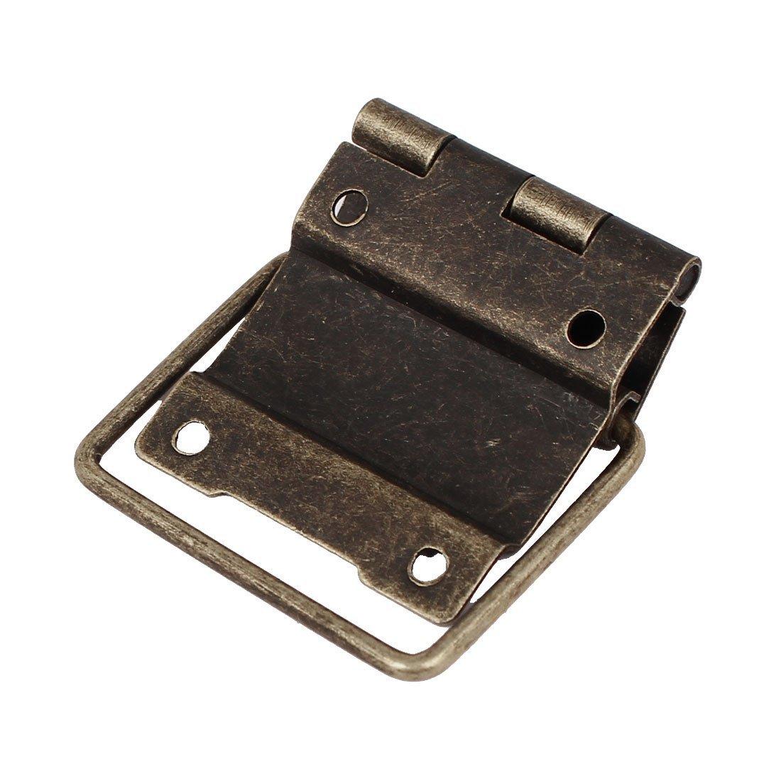 eDealMax Boîte Case Style rétro positionnement de Soutien Bronze Tone Hinges 30pcs 51mmx34mm