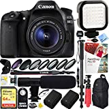 Canon EOS 80D 24.2 MP CMOS Digital SLR Camera w/EF-S 18-55mm f/3.5-5.6 IS STM Lens with 64GB SDXC Dual Battery & Shotgun Mic Pro Mobile Video Bundle