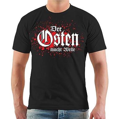 e403cd24cda4 Männer und Herren T-Shirt Der Osten Macht Welle (mit Rückendruck) Größe S