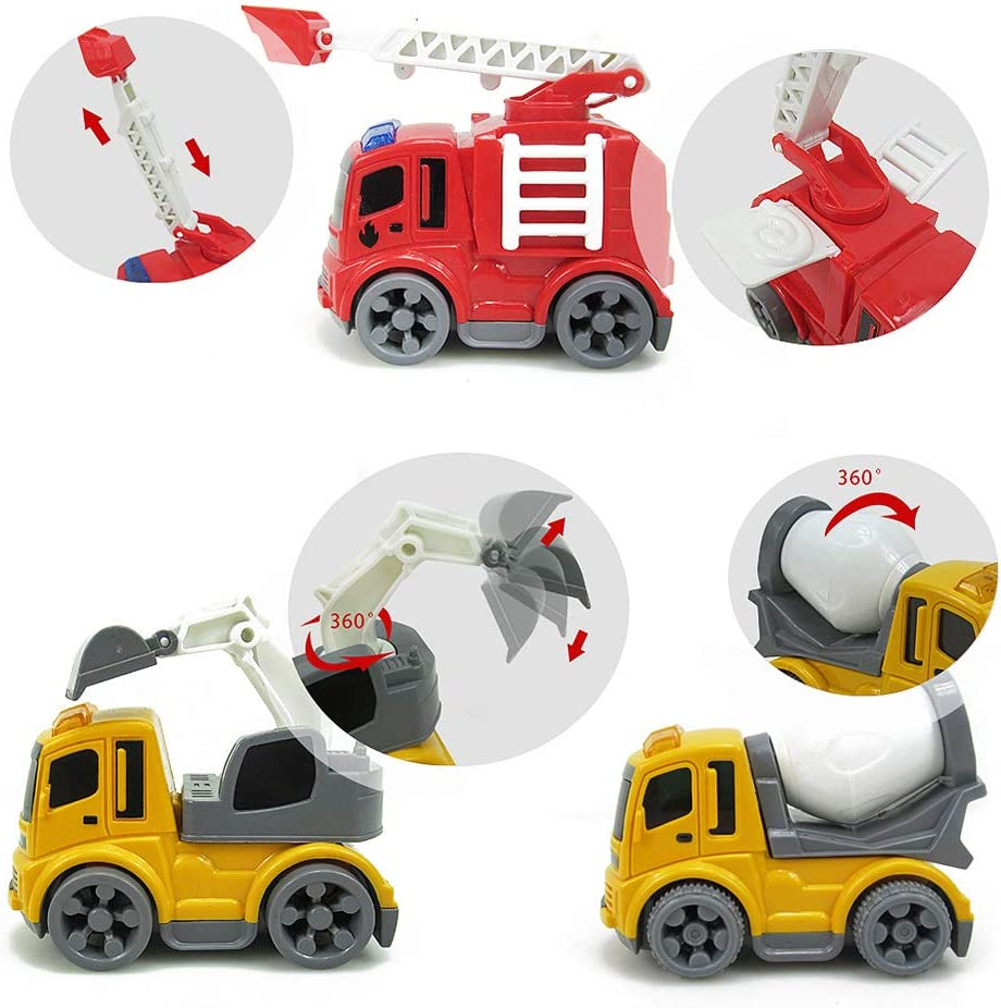31 Piezas Camiones de Juguetes para ni/ños 3 4 5 6 7 a/ños Diealles Shine Veh/ículos de Construcci/ón de Juguete con Tapete de Juego