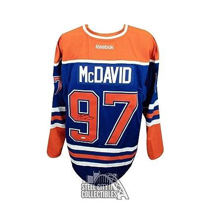online store ac6d7 f422d Signed Connor McDavid Jersey - Blue Reebok - Upper Deck ...