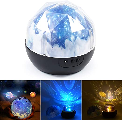 Proyector de luz nocturna - BESTGIFT LED Magic Planet Universe ...