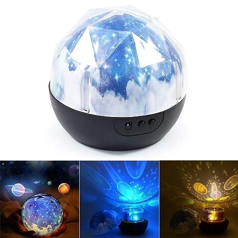 Proyector de luz nocturna - BESTGIFT LED Magic Planet Universe ...