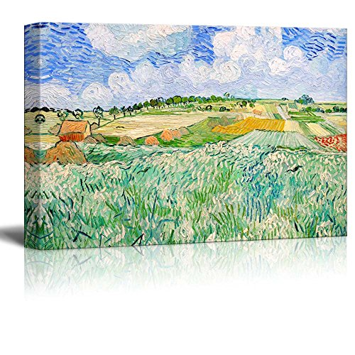 Plain near Auvers by Van Gogh Giclee ped Gallery