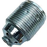 Fassung E27 Metall chromfarben 3-tlg. M10x1 Gewinde » Lampenfassung » Metallfassung