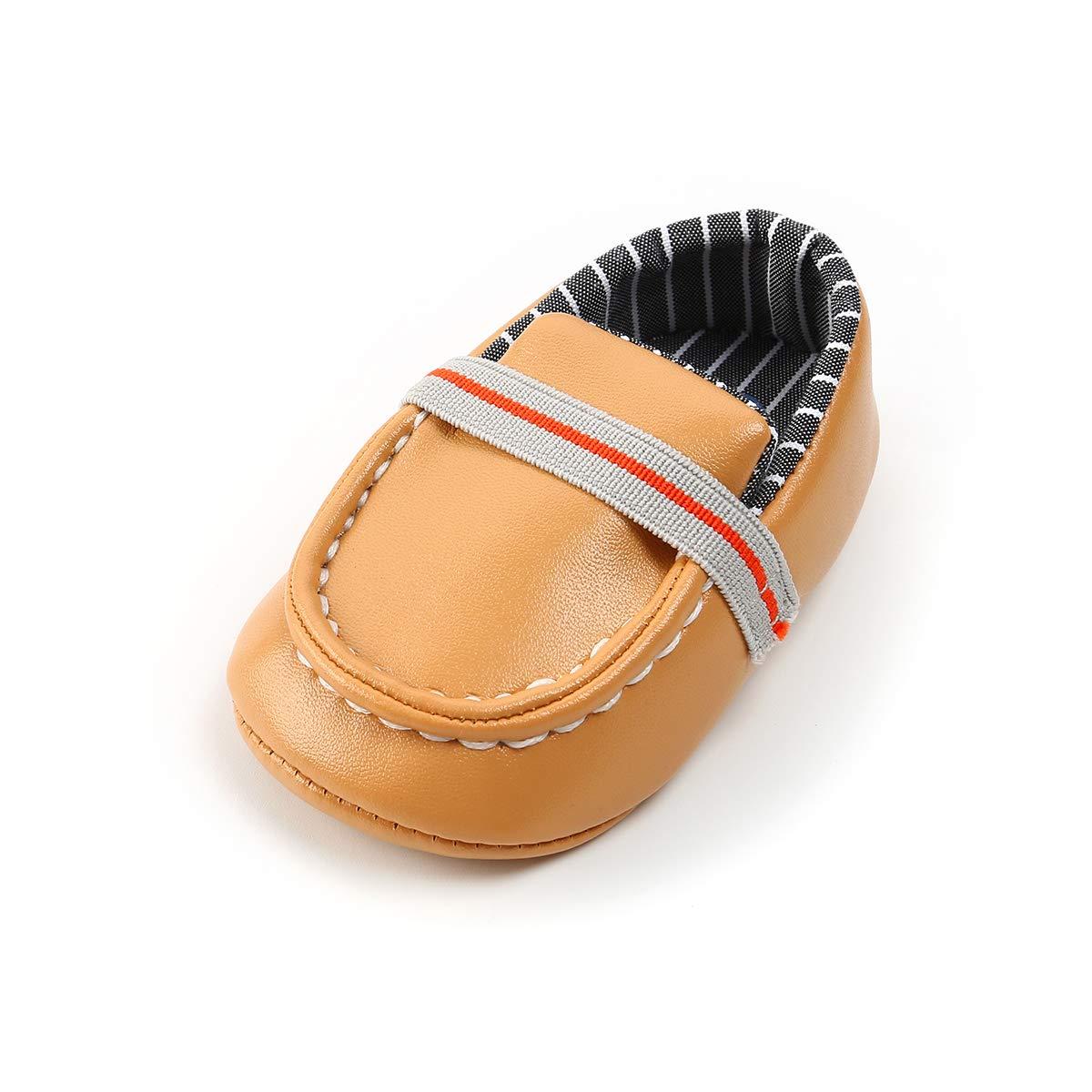 LACOFIA Chaussures b/éb/é Premiers Pas pour b/éb/é Fille ou gar/çons Mocassins en Cuir Souple PU