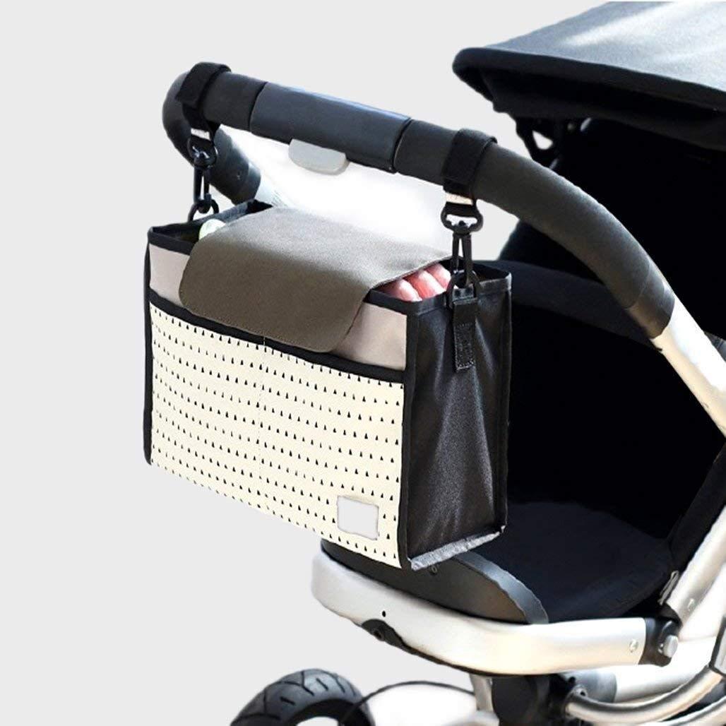 Nexlook Spaziergänger Organizer Taschen Wagen Pram Cart Save Mama Infant Windel Taschen Wasser Flasche Windel Tasche mit Cup Halter für Telefon POAO