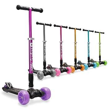 3StyleScooters® RGS-3 Patinete de Tres Ruedas, para Niños de 7+ años - Plegable, Ruedas iluminadas LED, Ligero y con Altura Manillar y Asas ...