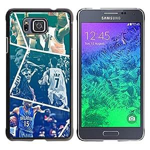 Baloncesto - Metal de aluminio y de plástico duro Caja del teléfono - Negro - Samsung ALPHA G850