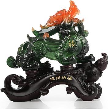 Natural jade Pixiu crafts lucky feng shui home decoration room office desk ornam