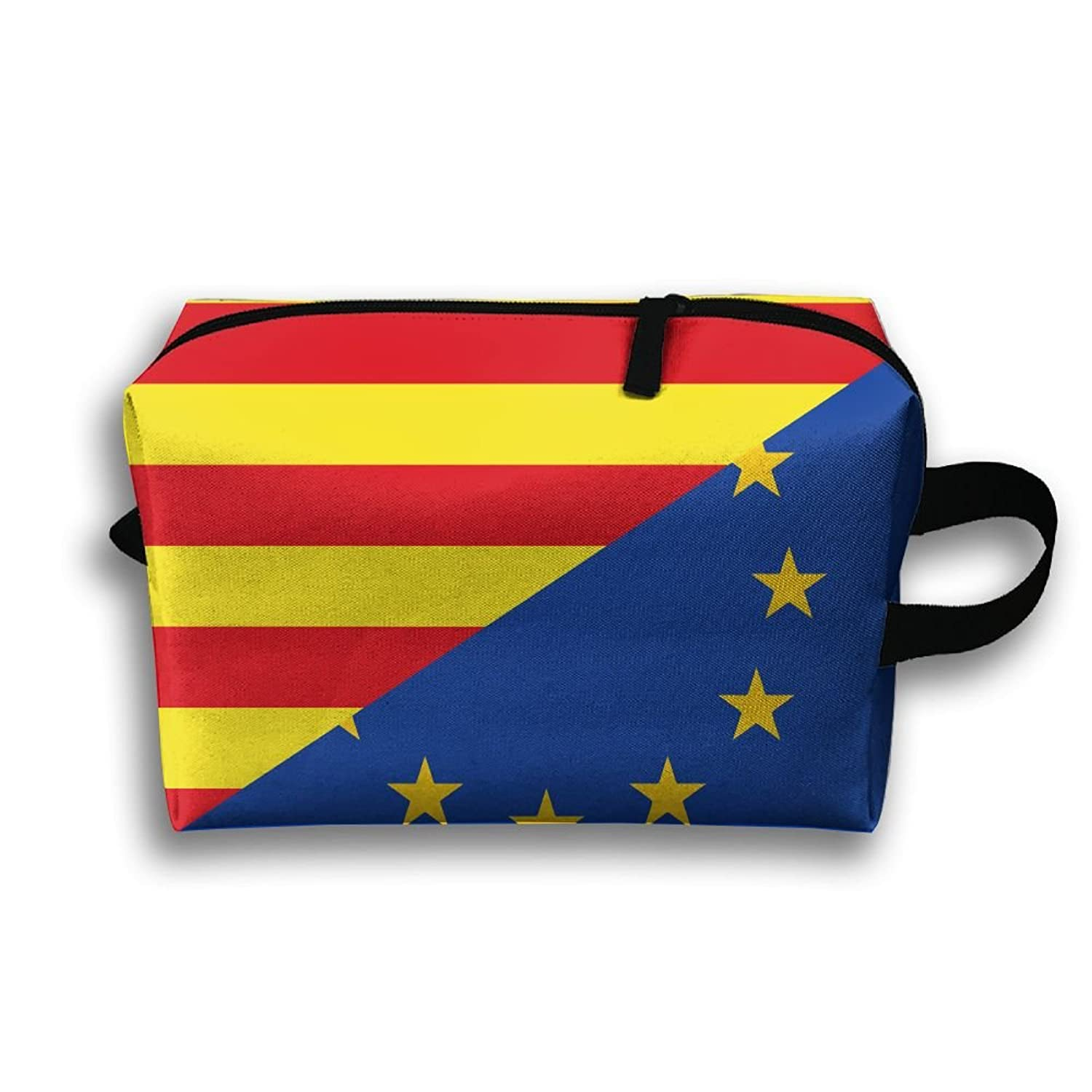 American Catalunya Flag Unisex Fashion Travel Bag Portable Toiletry Bag Organizer Storage