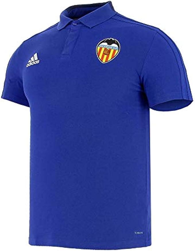 compacto transfusión Seguir  adidas Valencia CF Polo Men Blue, S: Amazon.co.uk: Clothing