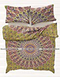 Rajasthani Handmade New Indian Bohemian Mandala Duvet Cover Ethnic Bedspread Decor Bedding Throw Blanket Queen Size Doona Cover Quilt Cover With Pillow Cover Bed Cover Boho Reversible Bed Sheet By