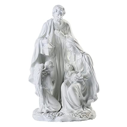 Amazon giftgarden holy family statue jesus mary joseph angel giftgarden holy family statue jesus mary joseph angel nativity set figurines catholic gift christian negle Images