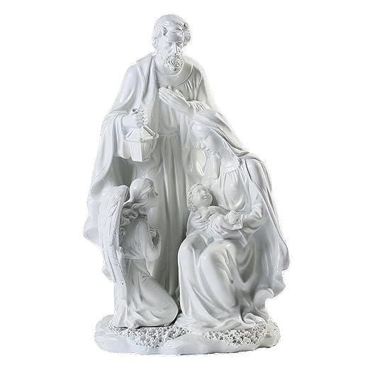 6 opinioni per Giftgarden® Sacra Famiglia con Natività di Gesù Statuine Presepe Bianco