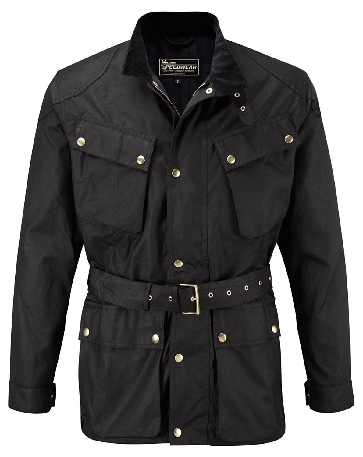 Deluxe Traditional wax cotton motorcycle jacket