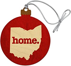 GRAPHICS & MORE Ohio OH Home State Textured Red Officially Licensed Wood Christmas Tree Holiday Ornament