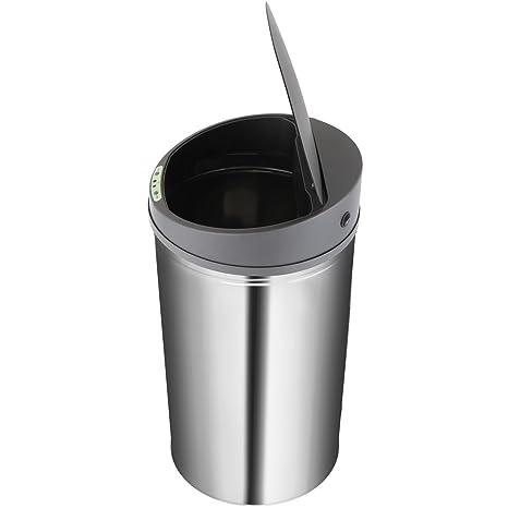 Jago - Cubo de basura automático de cocina con sensor de movimiento de de acero inoxidable - 40 L - capacidad a elegir: Amazon.es: Hogar