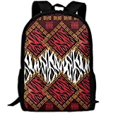 CY-STORE African Leopard Animal Skin Pattern Outdoor Shoulders Bag Fabric Backpack Multipurpose Daypacks For Adult