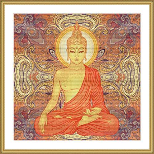 Golden Buddha Counted Cross Stitch Pattern ()