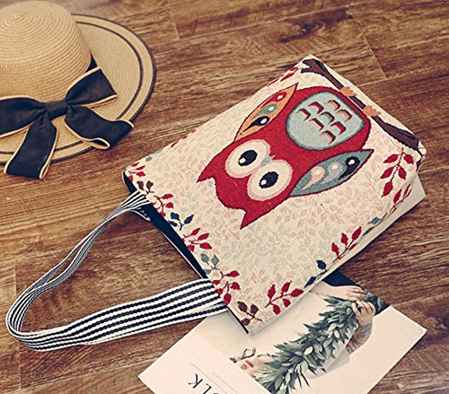 DNFC Damen Handtasche Canvas Shopper Tasche mit Reißverschluss Schultertasche Schöne Strandtasche mit Innentasche Einkaufstasche Reisetasche Damentasche für Frauen (Muster 1) Muster 1 33ZtiYByg9