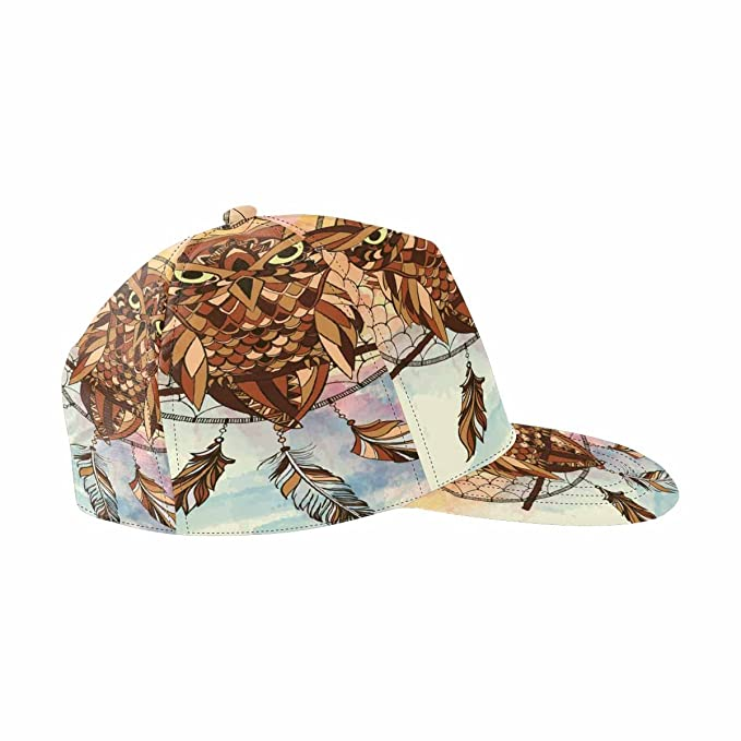 1a1854252d064 Image Unavailable. Image not available for. Color  INTERESTPRINT Dream  Catcher Owl Snapback Hats ...