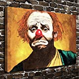 COLORSFORU Wall Art Painting Clown Prints On Canvas The Picture Landscape Pictures Oil For Home Modern Decoration Print Decor For Living Room