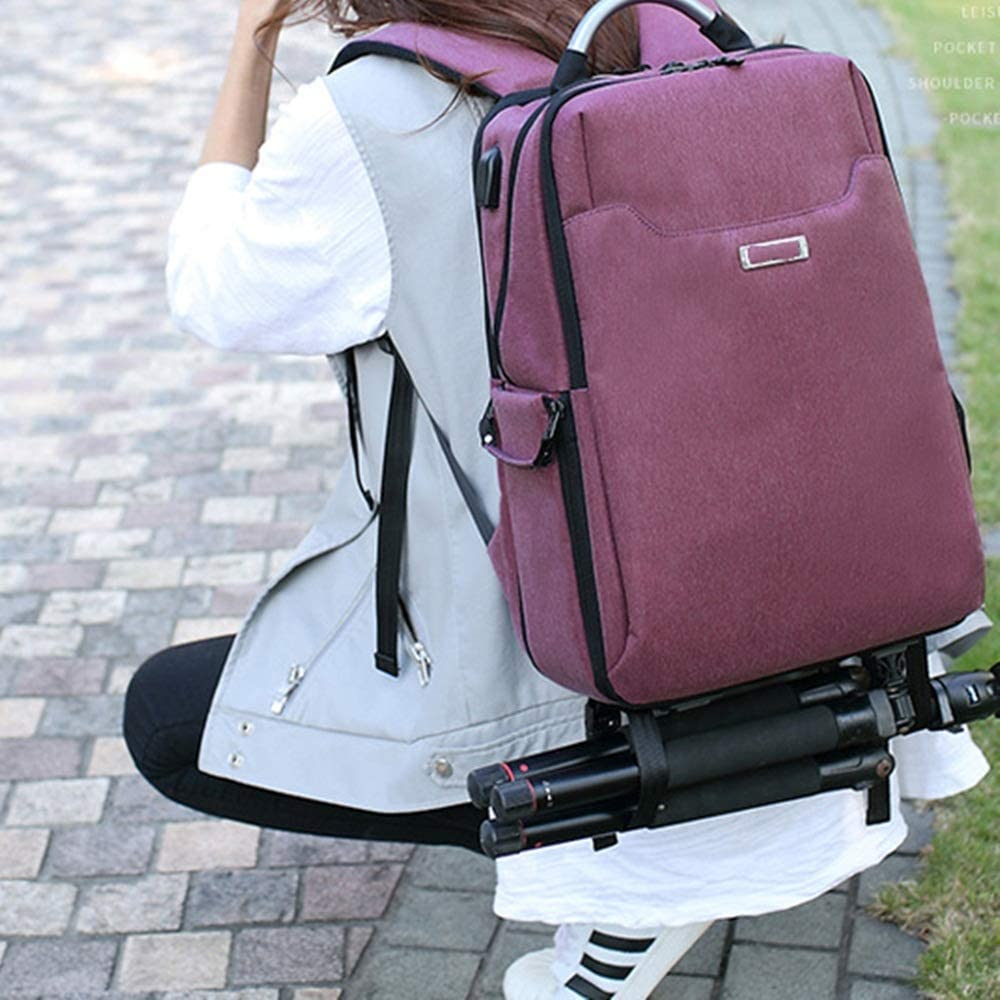 DQJKL Camera Backpack Camera Backpack Waterproof Photography Bag Large Capacity Multifunctional Camera Backpack Camera Bag Color : Black, Size : 28x41x14cm