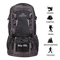 Gohyo 60L Hiking Backpack Trekking Rucksack Casual Daypack Lightweight Waterproof for Travel Climbing Camping