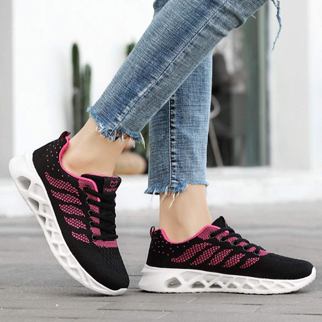 Mnowson Womens Trail Running Shoes Mesh Breathable Sneakers Lightweight Fashion Athletic Gym Shoes Casual Tennis Sport Shoes for Student
