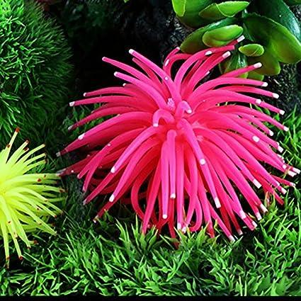 Amazon Com Soft Colorful Artificial Silicone Coral Fish Tank