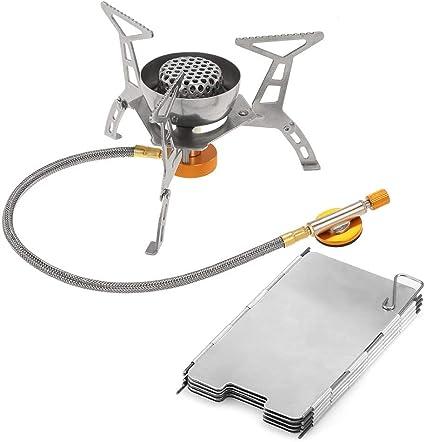 Estufa de camping gas al aire libre 3200W Gran Poder a prueba ...
