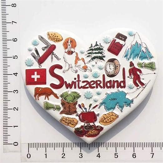 Weekinglo Souvenir Suiza 3D Imán de Nevera Resina Artesanía Hecha ...