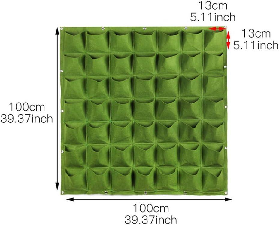 49 Taschen SFGHOUSE Pflanzbeutel zum Aufh/ängen vertikal Wandmontage Pflanzgef/ä/ß f/ür drinnen und drau/ßen