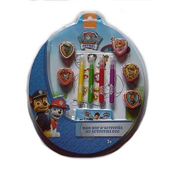 Coloriage Pat Patrouille Badge.Guizmax Set De Coloriage La Pat Patrouille Feutres Tampons Stickers