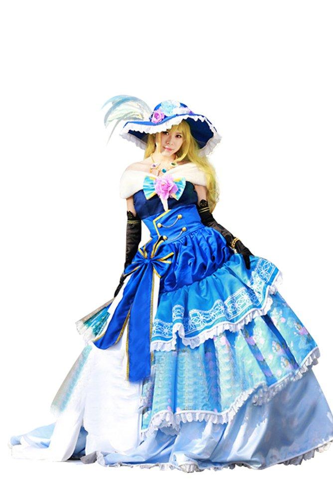 Mtxc Women's Love Live! Cosplay Eli Ayase Ball Dress SR Card Ver. Size X-Large Blue