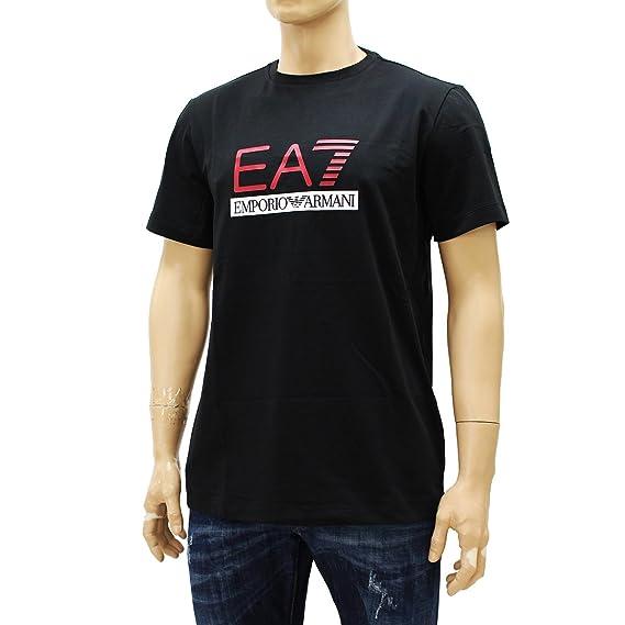 77a721ed56f9c  10  EMPORIO ARMANI エンポリオアルマーニ EA7 ロゴ ブラック 半袖 Tシャツ (S)