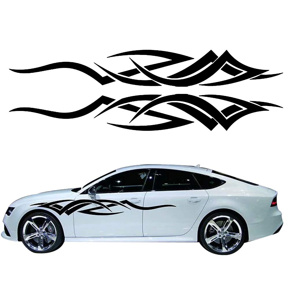 Giftcity car decals 1 set flame decals car sticker decals car decal vinyl car body decal for car truck ford f150 jeep wrangler universal scratch hidden