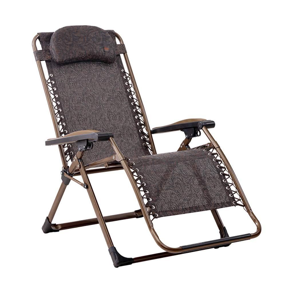 昼休み休憩椅子オフィス家庭用折りたたみ椅子大人椅子夏カジュアル涼しい椅子と枕ビーチチェアリクライニングチェアは200kgに耐えることができます (Color : A) B07SMS6V2W A
