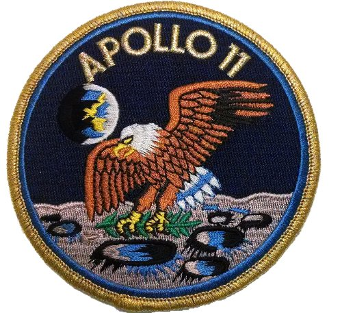 Nasa Clothing Patch (NASA Apollo 11 Lunar Landing Patch - 4 Inch)