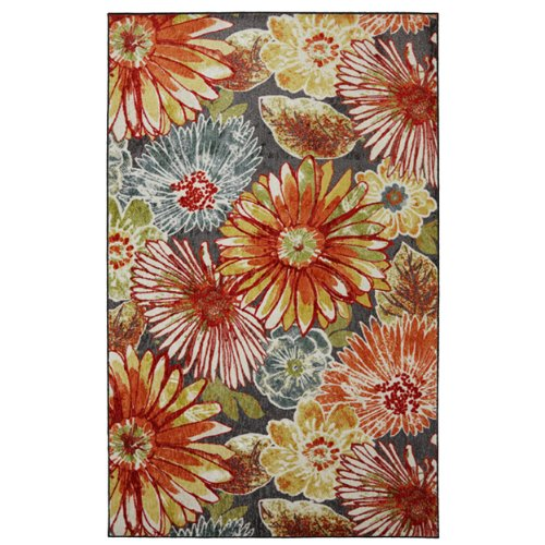 Mohawk Home New Wave Charm Floral Printed Area Rug, 5'x8', Multicolor (Rugs Area Floral)