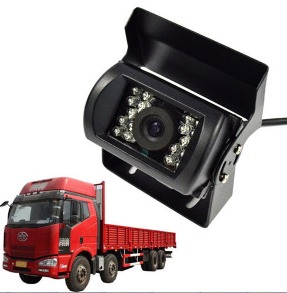 12-24V Backup Camera//Side View Free 30FT Video Cable for Truck Car Camper Motorhome Waterproof Heavy Duty Night Vision Mirror Image No Parking Guide Lines EKYLIN 7001B-Quad-DV-5880